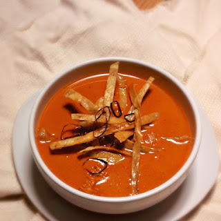Cream of Ancho Chile Soup.