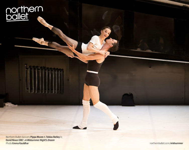 Photo: Had some difficulty posting this from on the road! But here's another image from A Midsummer Night's Dream with dancers Pippa Moore and Tobias Batley (in the same scene as the improvised dialogue video posted previously). Photo Emma Kauldhar. Full photoset (so far!)http://northernballet.com/index.php?q=a-midsummer-nights-dream/photos-2013 #ballet  #dancing