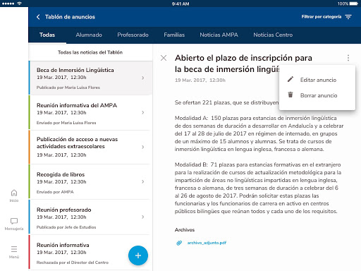 Versión de Séneca para smartphone y tabletas. screenshot 23