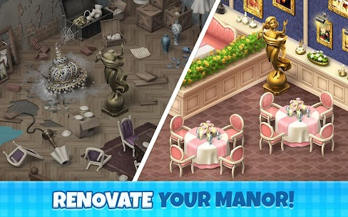 Manor Cafe Mod Apk 1.97.9 (Unlimited Money/Coins + Mod Menu) 3