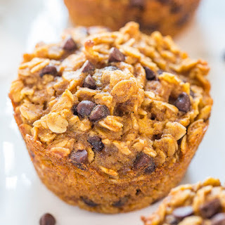 Oatmeal To-Go Pumpkin Chocolate Chip Muffins.