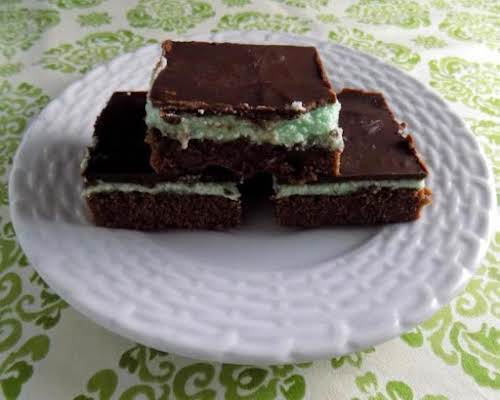 """Chocolate Mint Brownies """"What a delicious treat! I loved the chocolate/mint combo..."""