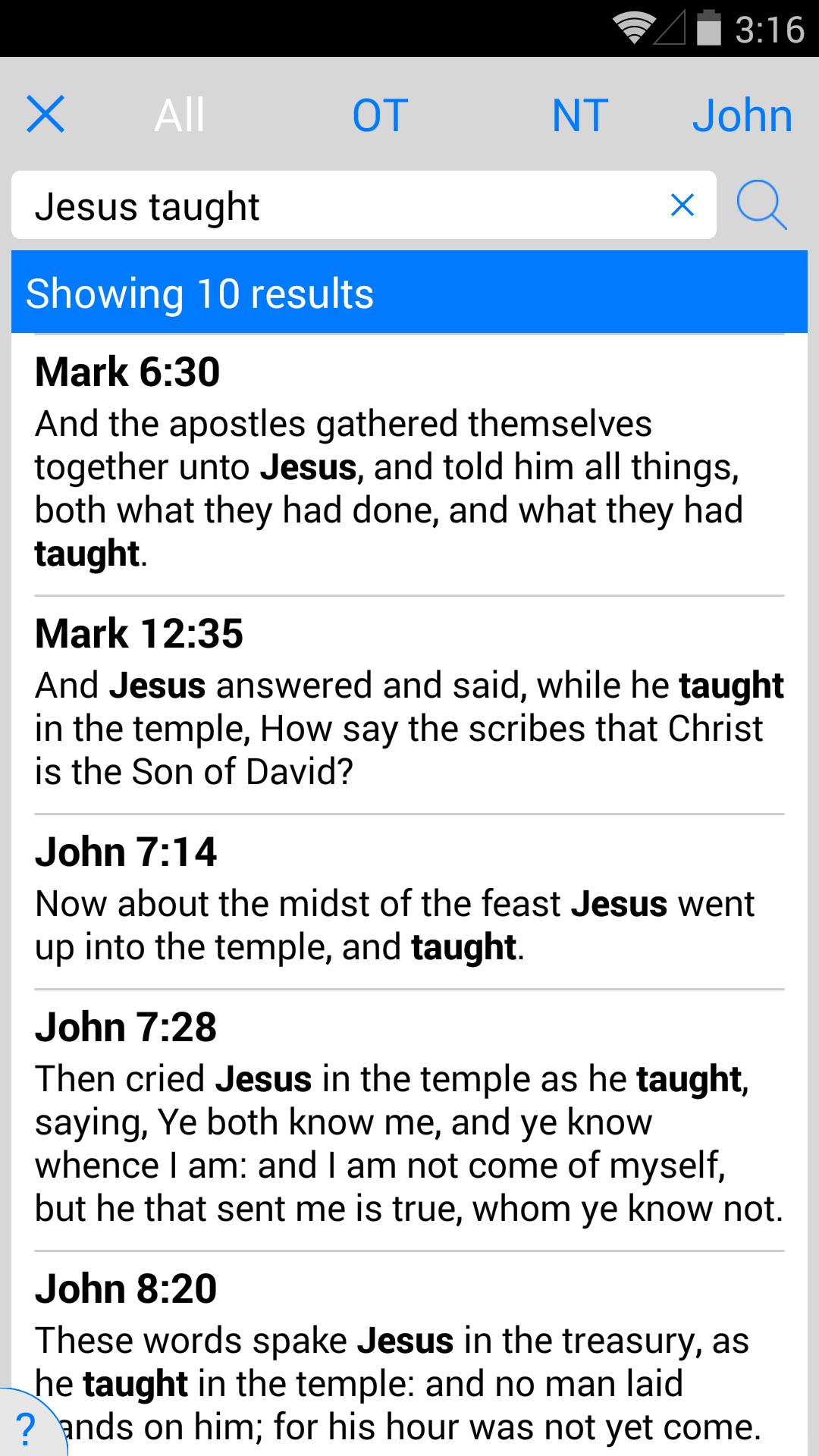 New American Standard Bible screenshot #6
