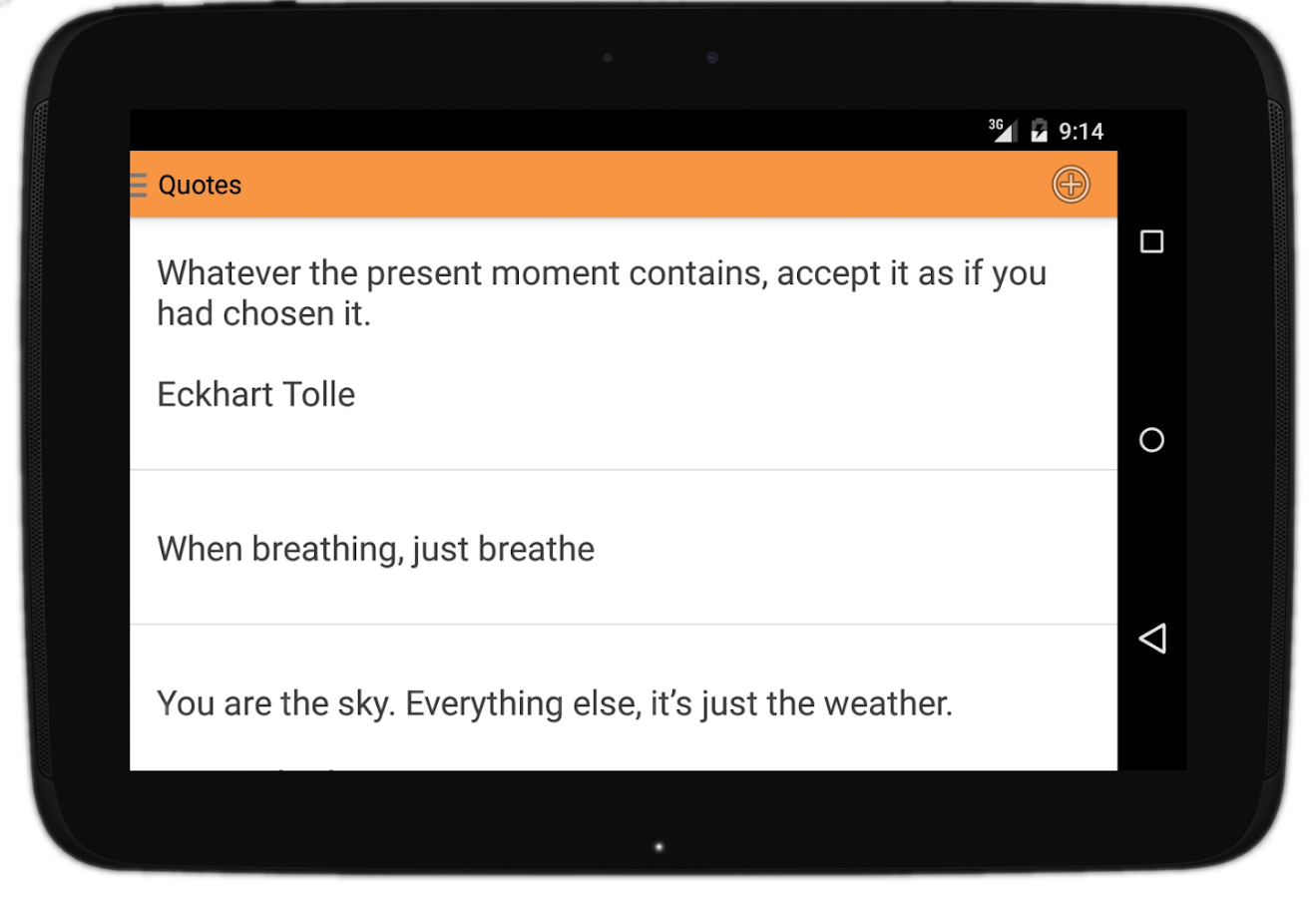 Just Be (mindfulness app)- screenshot