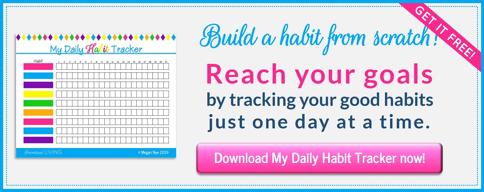 My Daily Habit Tracker from Prioritized Living