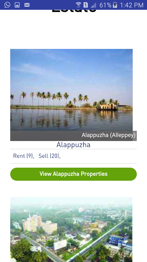 Kerala Real Estate Properties- screenshot