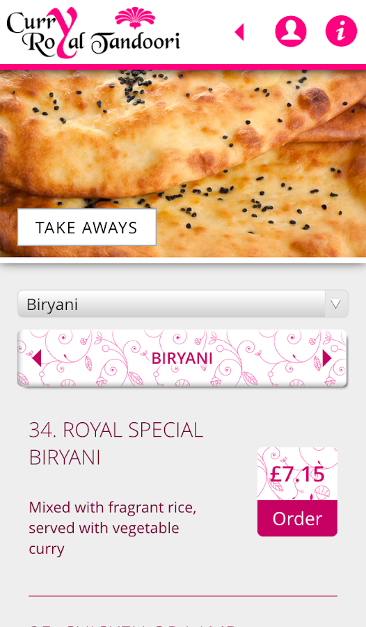 Curry Royal Tandoori- screenshot