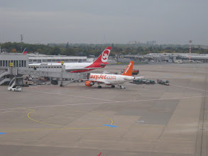 Photo: Jaqui arrived with easy Jet from London Gatwick in One hour 15 minutes to Düsseldorf.