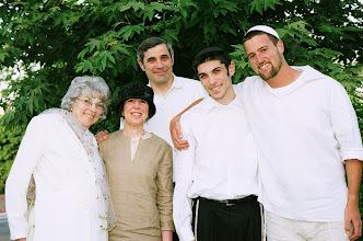 Photo: Savta, Barbara, Joel and Neal Rich with Shayke