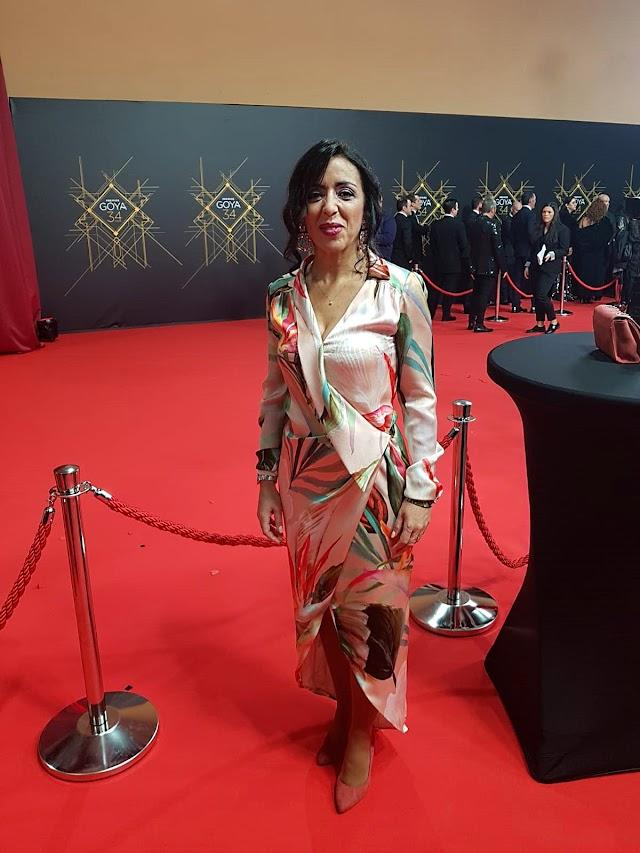 La presidenta del Parlamento de Andalucía, Marta Bosquet, con diseño de Lola Li.