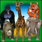 Safari Animals: Scary Tiger Icon