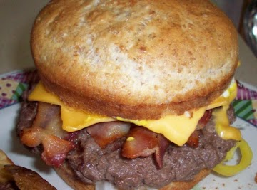 Peggi's Loaded Bacon Cheese Burger Recipe