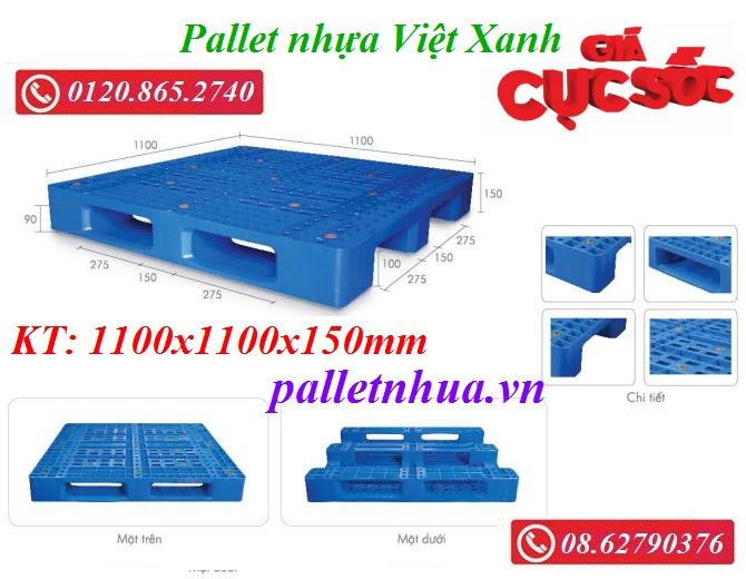 Pallet nhựa 1100x1100mm