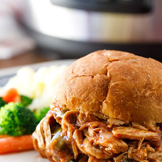 Pressure Cooker Pulled Chicken.