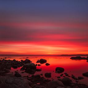 After sunset by Morten Pettersen - Landscapes Sunsets & Sunrises ( sletter, red, råde, sunset, norway )