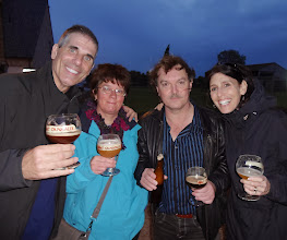 Photo: Friends of Ruth and Mike's from Belgium came by to visit with the group and share a few brews.