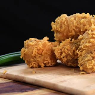 Ramen-Crusted Chicken Wings.