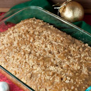 Eggnog Crumble Crunch Cake