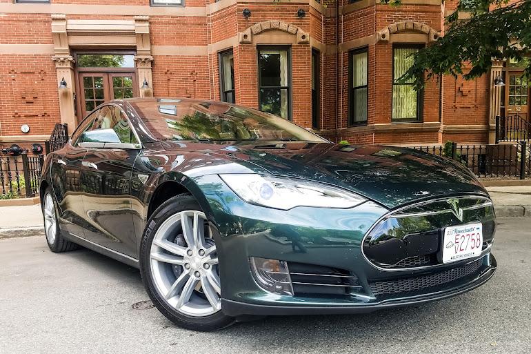 Rent A Dark Green Tesla Model S In Boston Getaround