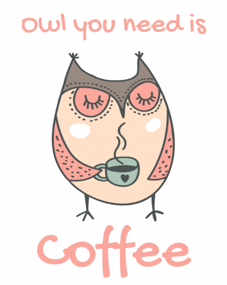 Image result for muffin and coffee owl clipart