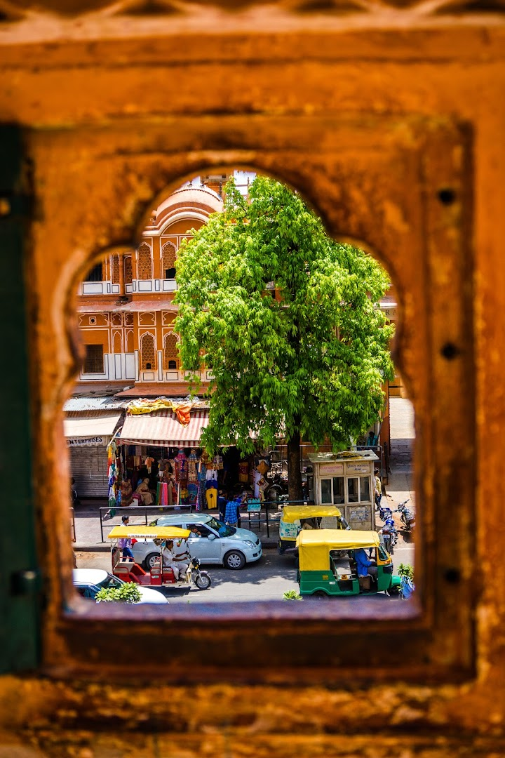 View through one of the Hawa Mahal windows