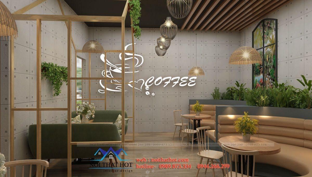 các trang trí quán cafe