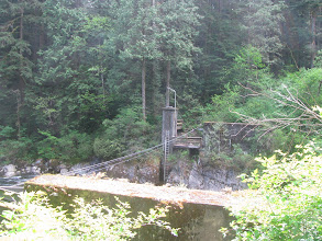 Photo: Old bridge footings, Seymour River