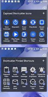 Shortcutter Quick Settings & Sidebar Screenshot