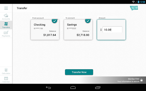 First Community Bank MT Tablet- screenshot thumbnail