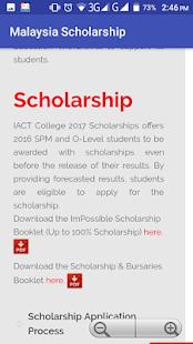 Malaysia Scholarship - náhled
