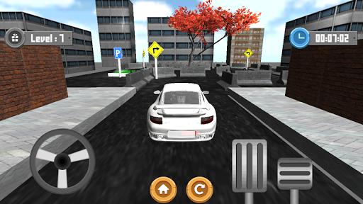 駐車場のレーススピード3D
