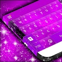 Purple Hearts Keyboard Theme icon