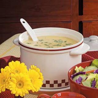 Homemade Cheesy Potato Soup.