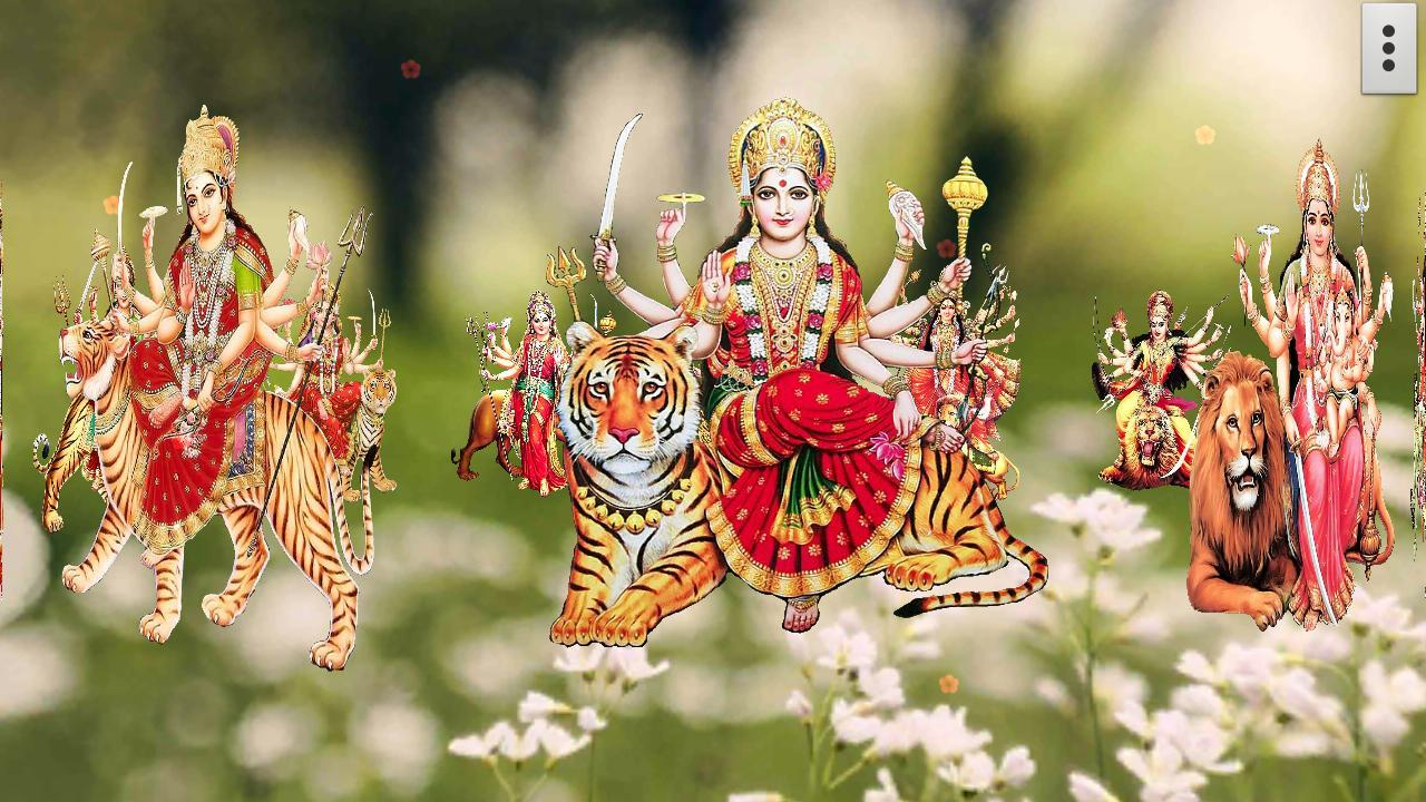 Wallpaper download durga maa - 4d Maa Durga Live Wallpaper Screenshot