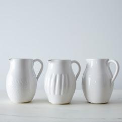Textured Porcelain Pitchers