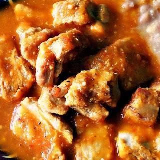 Carne de Puerco con Chile.