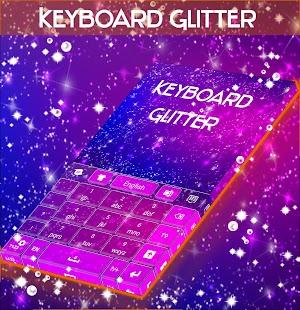 Glitter Téma klávesnice - náhled