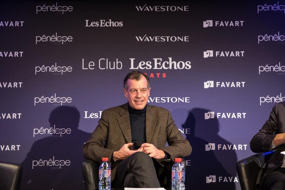Henri Giscard d'Estaing, président du Club Med au Club Les Echos le 23 février.