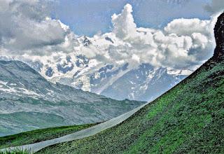 Photo: T-26-32 Mont Blanc beim Col Pelouse - Toureninfos:  http://pagewizz.com/liste-wanderungen-und-ausfluege-in-hochsavoyen-frankreich/