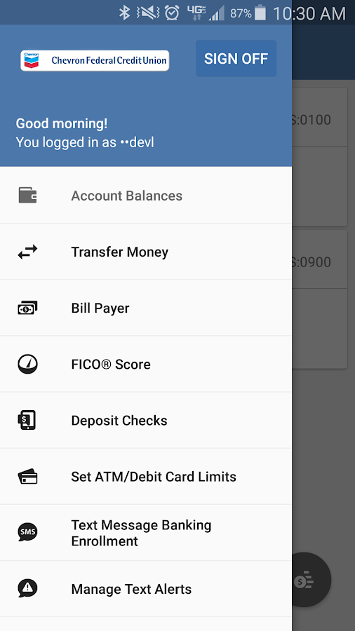 Chevron FCU Mobile Banking- screenshot