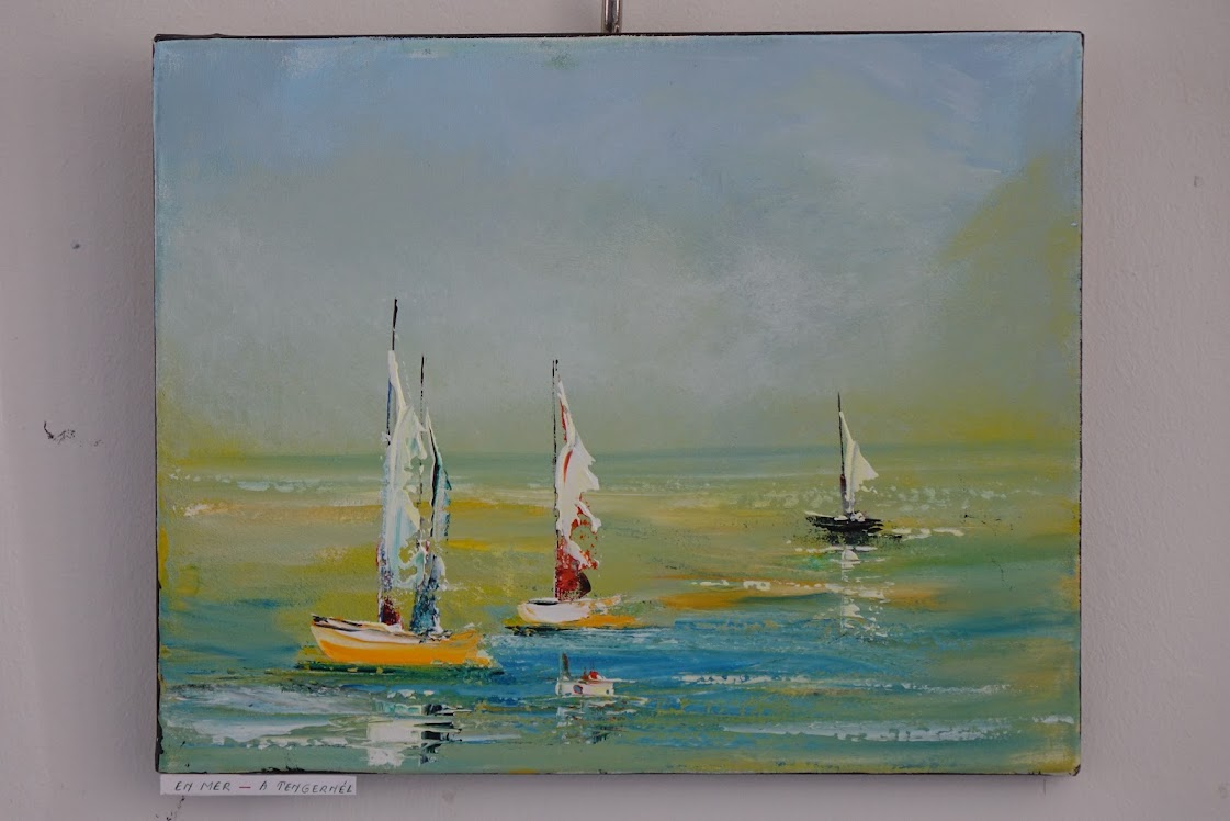 Michéle Colonval festményeinek kiállítása