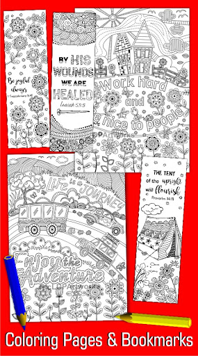 Coloring Bookmarks and Pages