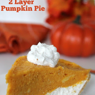 No-Bake 2 Layer Pumpkin Pie