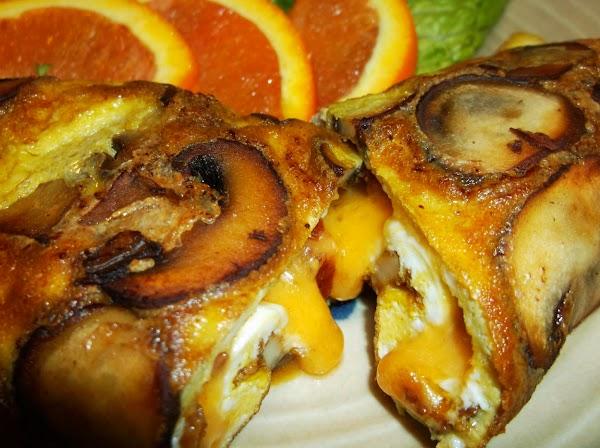 Fresh Mushroom Bacon Omelette Recipe