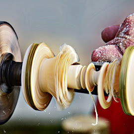 Wood turning by Sue Bernhard - Smith - Artistic Objects Other Objects ( hands, craft, wood turning, wood,  )