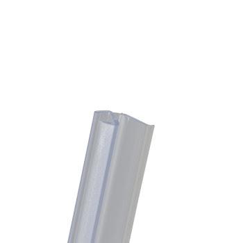 Joint d'étanchéité vertical entre porte de douche et paroi fixe