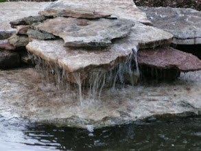 Photo: Water falls in large pond