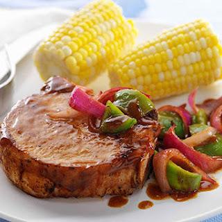 Saucy Barbecued Pork Chop Skillet