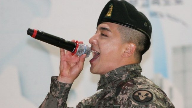 Taeyang performing at military event