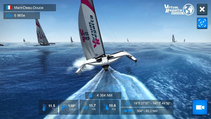 Virtual Regatta Offshore Android App Screenshot